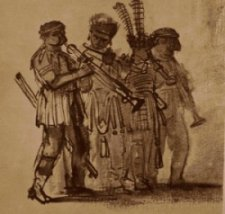 Drawing - looks like 4 musicians