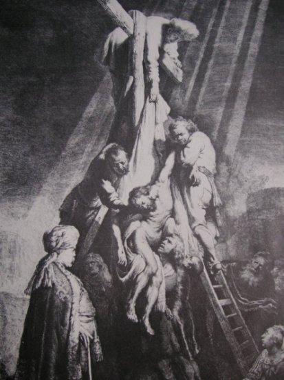 Rembrandt's Deposition Etching